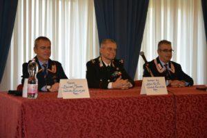 Tenente Massimo Tamorri Coordinatore provinciale ANC Roma e Generale B. Antonio De Vita Comandante provinciale CC Roma